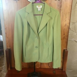 Talbots Women's size Medium light green blazer